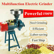 1500w Electric Grinder Dry Feed/flour Mill Cereals Grain Corn Wheat Crusher 220v