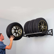 Saferacks Tire Rack, Holds Up To 400 Lbs., Wall Mounted Tire Steel Storage