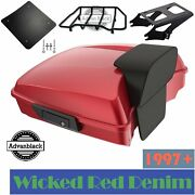 Wicked Red Denim Razor Tour Pack 2-up Mounting Bracket Rack For Harley 2014+