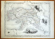 Turkey In Asia Cyprus Middle East Rapkin And Tallis Orig. Antique Map C1850
