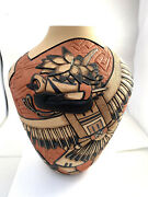 Native American Handmade Hopi Eagle Pottery Design