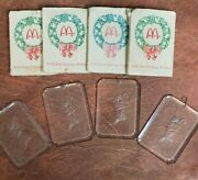 Mcdonalds Christmas Ornaments Stocking Gift Give-a-way - 1970s Vintage - 4pcs