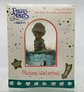 Precious Moments Musical Waterball Plays We Wish You A Merry Christmas Enesco