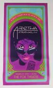 Aretha Franklin Signed Autograph 13x25 Live At The Fox Theatre Poster