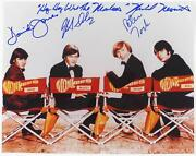 The Monkees Signed Autograph 11x14 Photo By All 4 Davy Jones, Peter Tork W/lyric