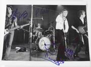 Sex Pistols Signed Autograph 11x14 Photo By All 4 Members Johnny Rotten +