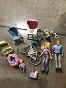Lot Fisher Price Loving Family Dream Dollhouse Bicycle Bike Baby Mom Dad