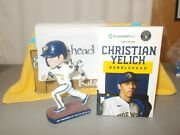 Nib 2020 Christian Yelich Brewers Bobblehead Associated Bank Exclusive