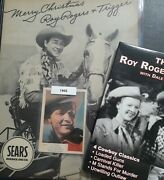 Lot Of 3 Roy Rogers Items. 1950s Ad Facsimile Auto, 2005 Dvd, And 1955 Card.