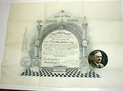 Masonic-1928- 32 Degree Certification Document And Grand Lecturer Certificate