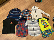 Huge Boys Size 8 Clothing Lot Buttons Downs, 3 Swim Sets, Hoodies And More