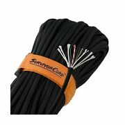 Paracord Parachute Cord W/ Waterproof Fire Tinder Fishing Line Wire 103' Black