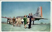 Postcard Il Chicago Tommy Bartlett Welcome Travelers Party Airplane K9