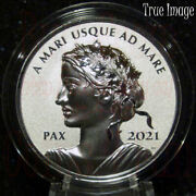 2021 - Pax - Peace Dollar - 1 1 Oz Pure Silver Uhf Proof Coin - Canada