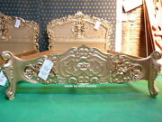 Uk Stock 5and039 King Size Mahogany French Style Furniture Baroque Gold Rococo Bed