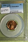 A1594-87,lincoln Penny 1909 Vdb Pcgs Ms 64 Rd