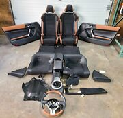 2016 Scion Fr-s Rs 2.0 Complete Brown Leather Seats Interior Assembly Oem 6828