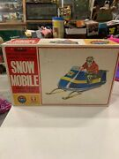 Vintage Rare Bandai Battery Operated Snow Mobile Toy In Original Box Works