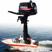 2 Stroke 6 Hp Heavy Duty Outboard Motor Boat Engine Water Cooling And Cdi System