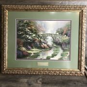 Home Interior Thomas Kinkade Stillwater Cottage Library Edition Framed Picture