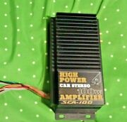 Vintage Sound Creation Car Radio Amplifier Amp 100watts Compact Size Used Clean