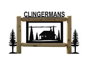 Personalized Cabin Sign - Rustic Log Cabin Decor - Outdoor Signs