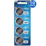 Renata Cr2320 Battery 3v Lithium Coin Cell Cr2320 Batteries 10 Count