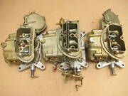 67 Corvette 427 3659 3660 Tri-power Holley Carburetors 427/435 400 Dated 3x2 Set