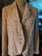 Iconic Blush Pink Tweed Jacket Fr44 Mint Condition