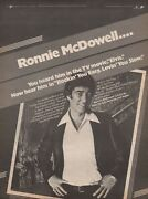 1979 Original Ronnie Mcdowell Rockinand039 You Easy Epic Records Promo Print Ad