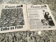 Week 2016 Granma Lot 7 Newspapers Rare Newspaper On Fidel Castroand039s Death