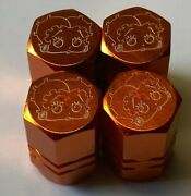 Chrome Engraved Betty Boop Tire Valve Stem Cap Covers 1or