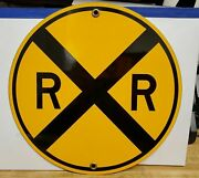 Railway Signs - Rxr- Rail Road Crossing - 9x9 In Round- Made In The U.s.a