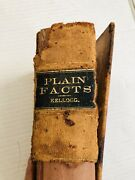 Antique Book Plain Facts For Young And Old First Edition 1882 Signed By Author