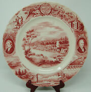 Red Vintage Johnson Bros 11andrdquo The Oregon Plate By Meier And Frank Co Inc
