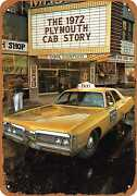 Metal Sign - 1972 Plymouth Taxi Cabs -- Vintage Look
