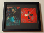 Three Days Grace Band Autographed Signed Framed Cd Cover With Jsa Coa Jj30498