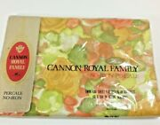 Cannon Royal Family Percale No-iron Twin Flat Sheet Watercolor Rose Nos