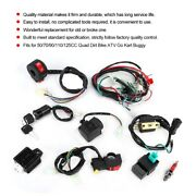 Wiring Harness Solenoid Coil Rectifier Cdi Kit For 50cc 70cc 110cc 125cc Atv Sh