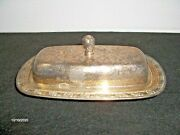 Vintage Oneida Ltd Silver Butter Dish With Lid