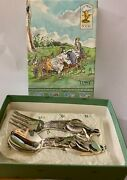 Lunt Silversmiths Classic Pooh Silver-plate Set Pooh And Piglet Fork And Spoon