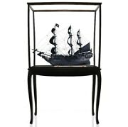 Large 35 Black Pearl Ship Model W/ Floor Display Case Pirates Of The Caribbean