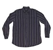 Paul And Shark Havana Yacht Club Men's Striped L/s Shirt 42 Made In Italy