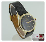 Vintage Omega 14k Yellow Gold 28.10.ra Automatic Bumper Menand039s Watch