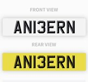 Private Number Plate An13ern Amber Amberin Amberine Perfect Girls Name Reg Funny