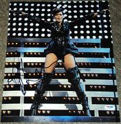 Rihanna Signed Autograph Sexy Leather Boots Stage Hot 11x14 Photo Psa/dna V04607