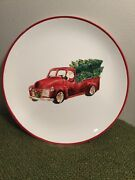 Antique Truck Christmas Plate By Modern Southern Home - Excellent Pre-owned Cond