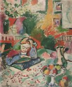 Henri Matisse Interior With A Young Girl Girl Reading Plate Signed Lithograph