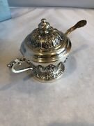 Vintage Corbell Silver Plated Sugar Bowl With Spoon