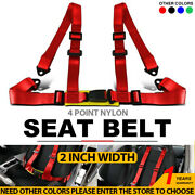 3.6m Gold Universal Racing Front 3 Point Safety Retractable Car Seat Lap Belts